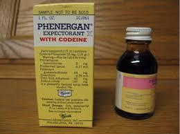 Phenergan with codeine syrup